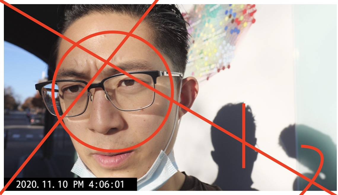 selfie composition red lines