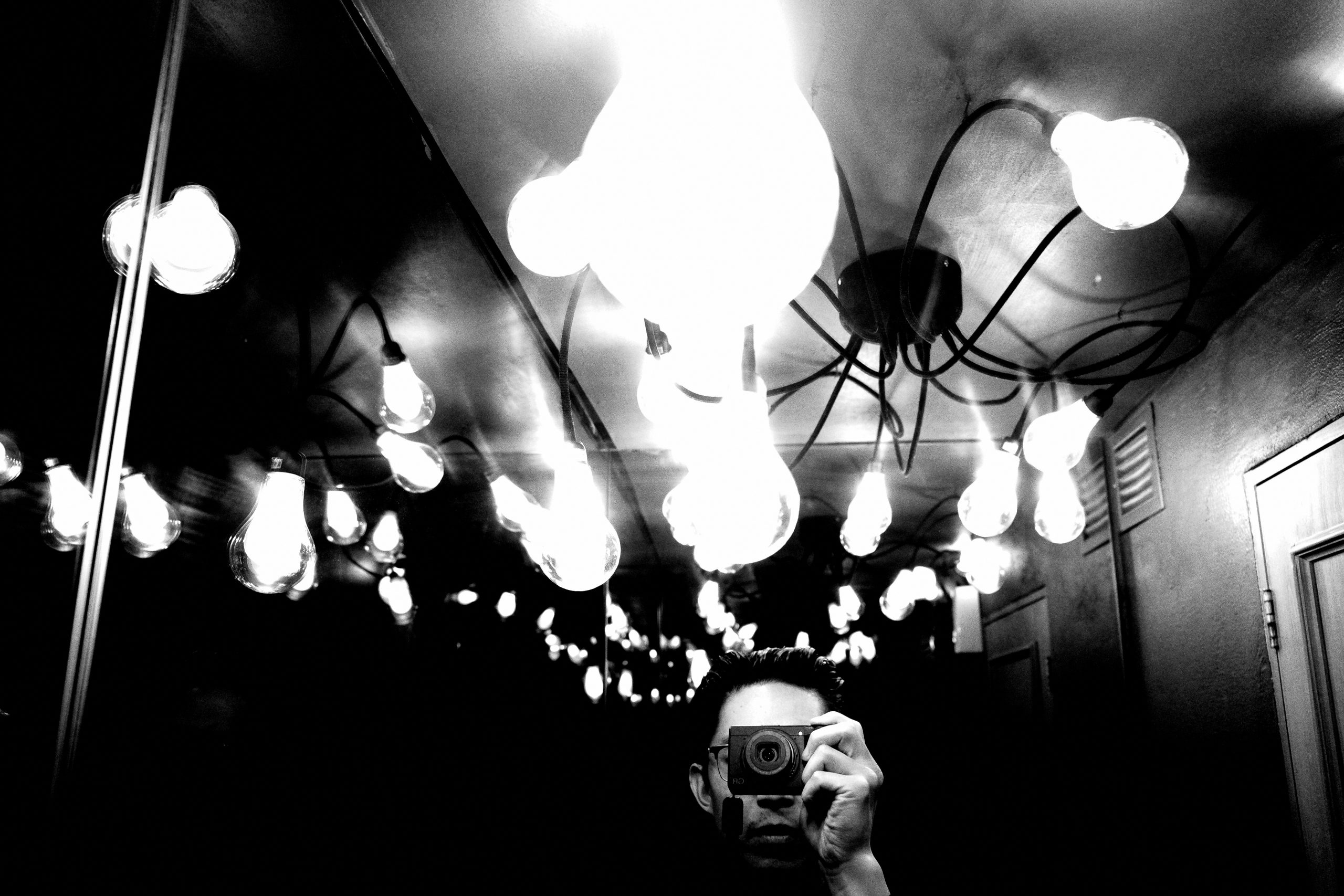 Light bulbs selfie ERIC KIM