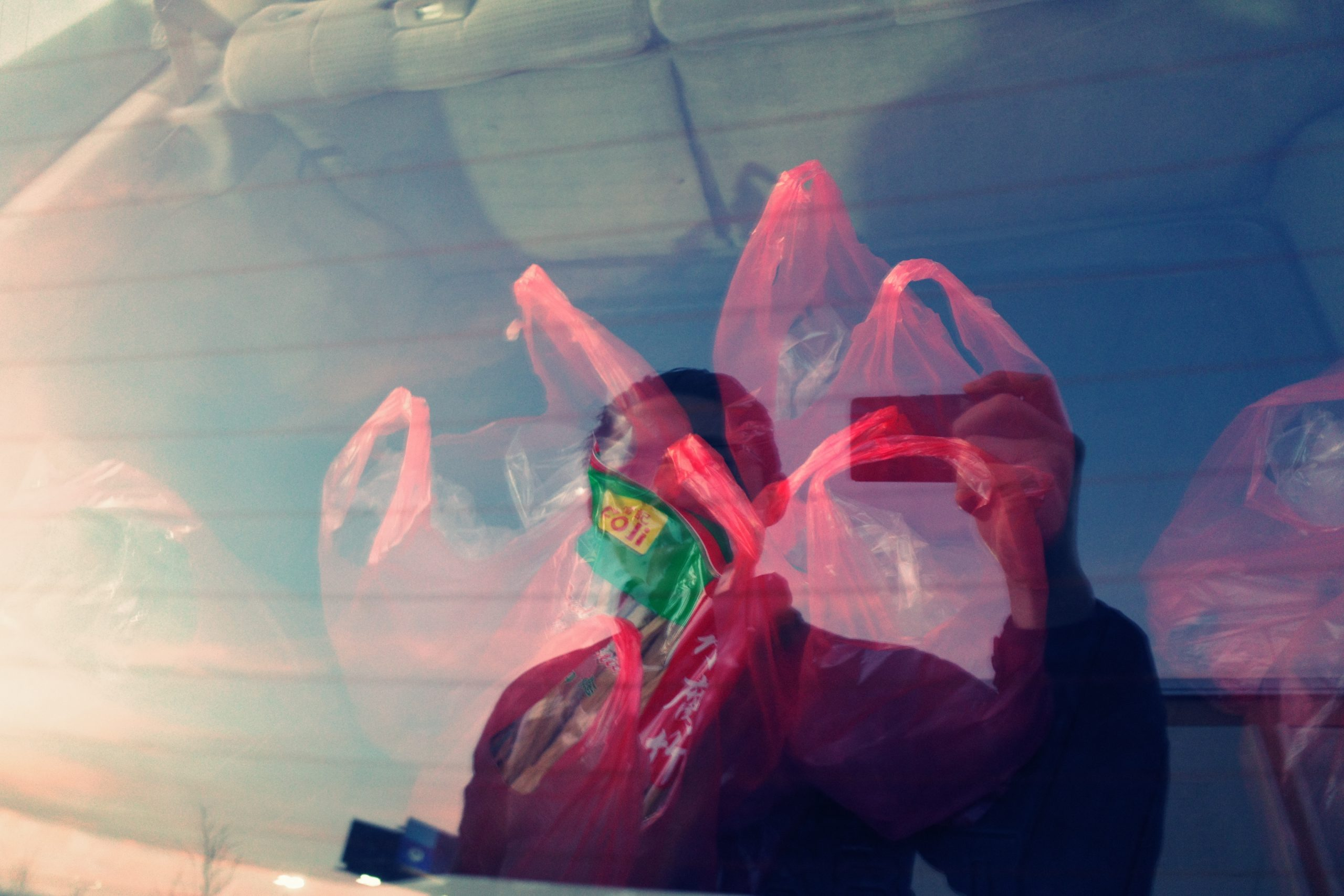 Selfie red bags ERIC KIM