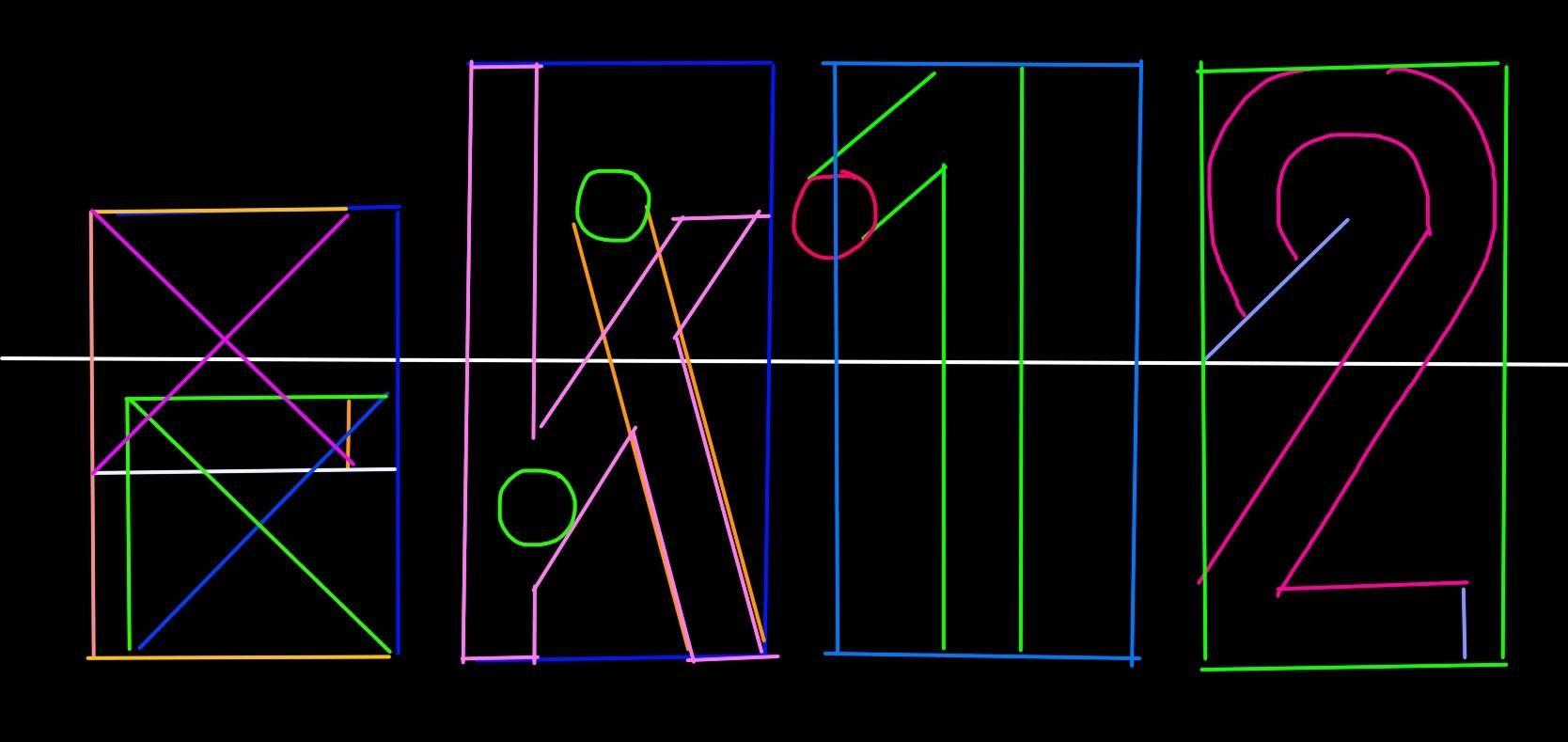 Bauhaus font design outline ERIC KIM