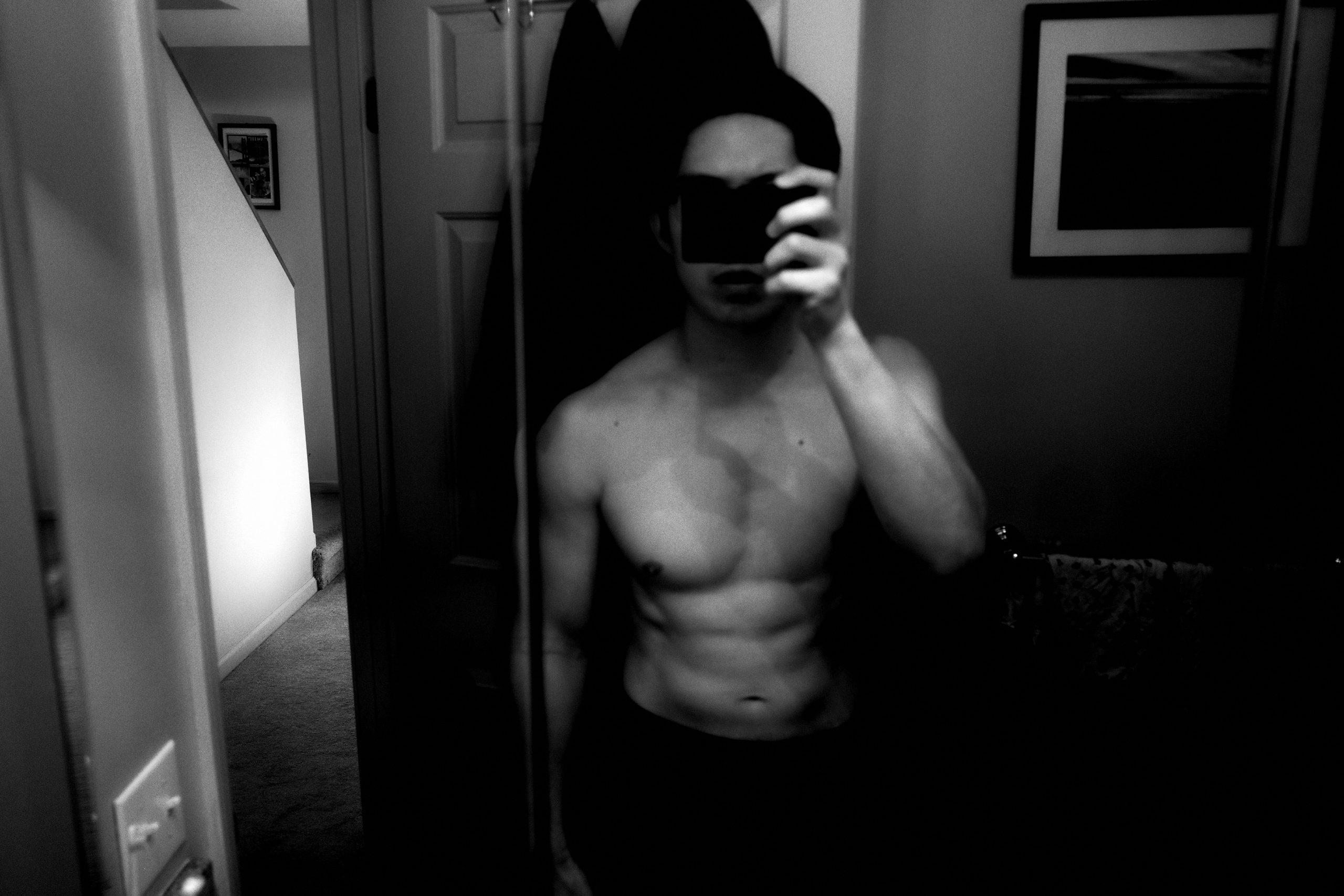 selfie ERIC KIM muscle topless