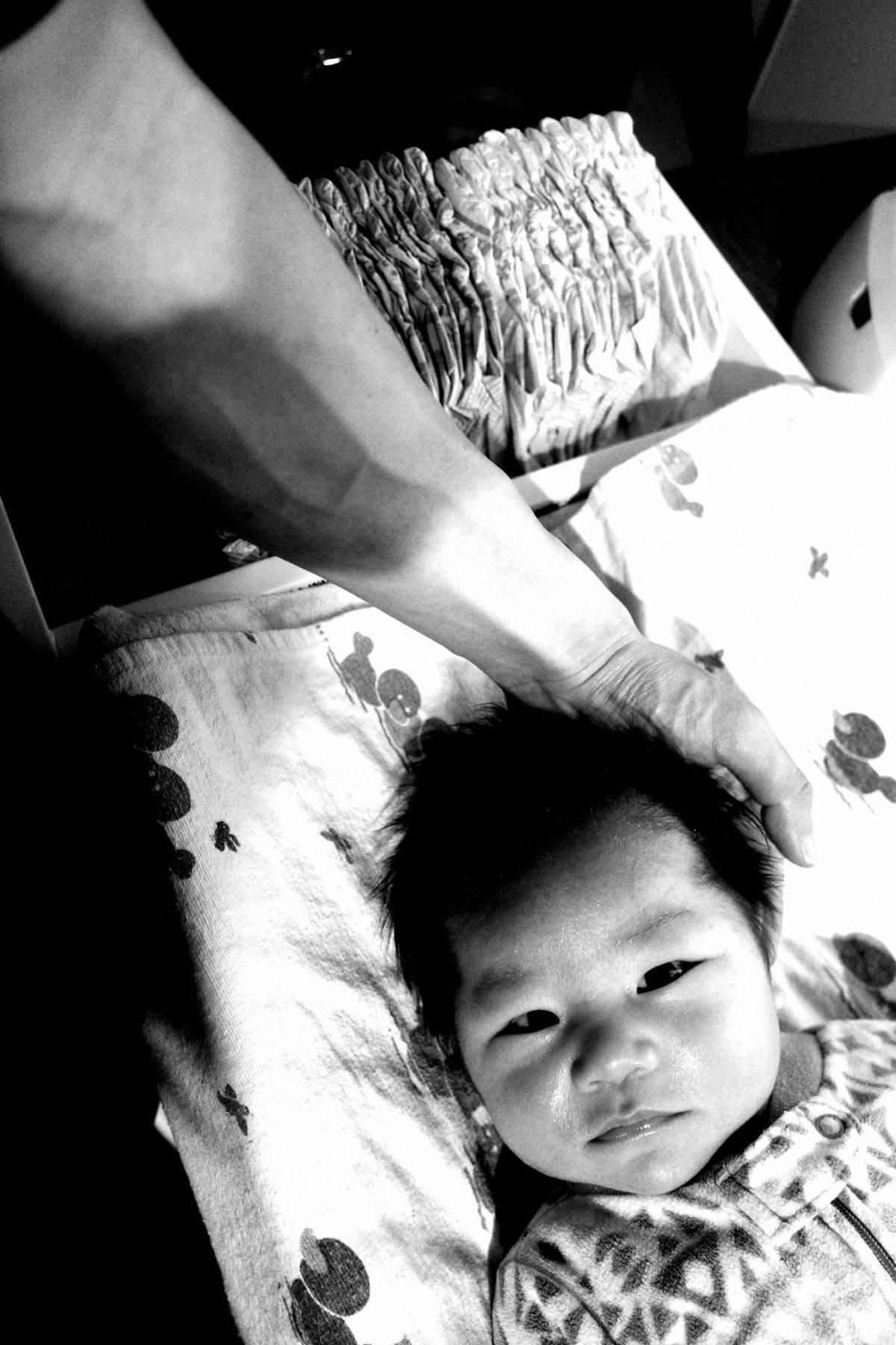 Hand son selfie ERIC KIM arm
