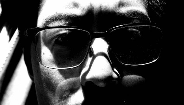 ERIC KIM selfie black and white
