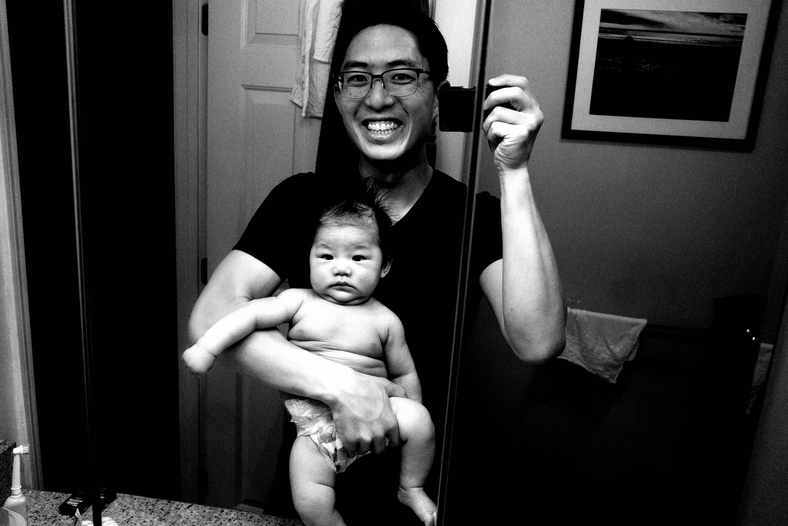 selfie ERIC KIM and daddy