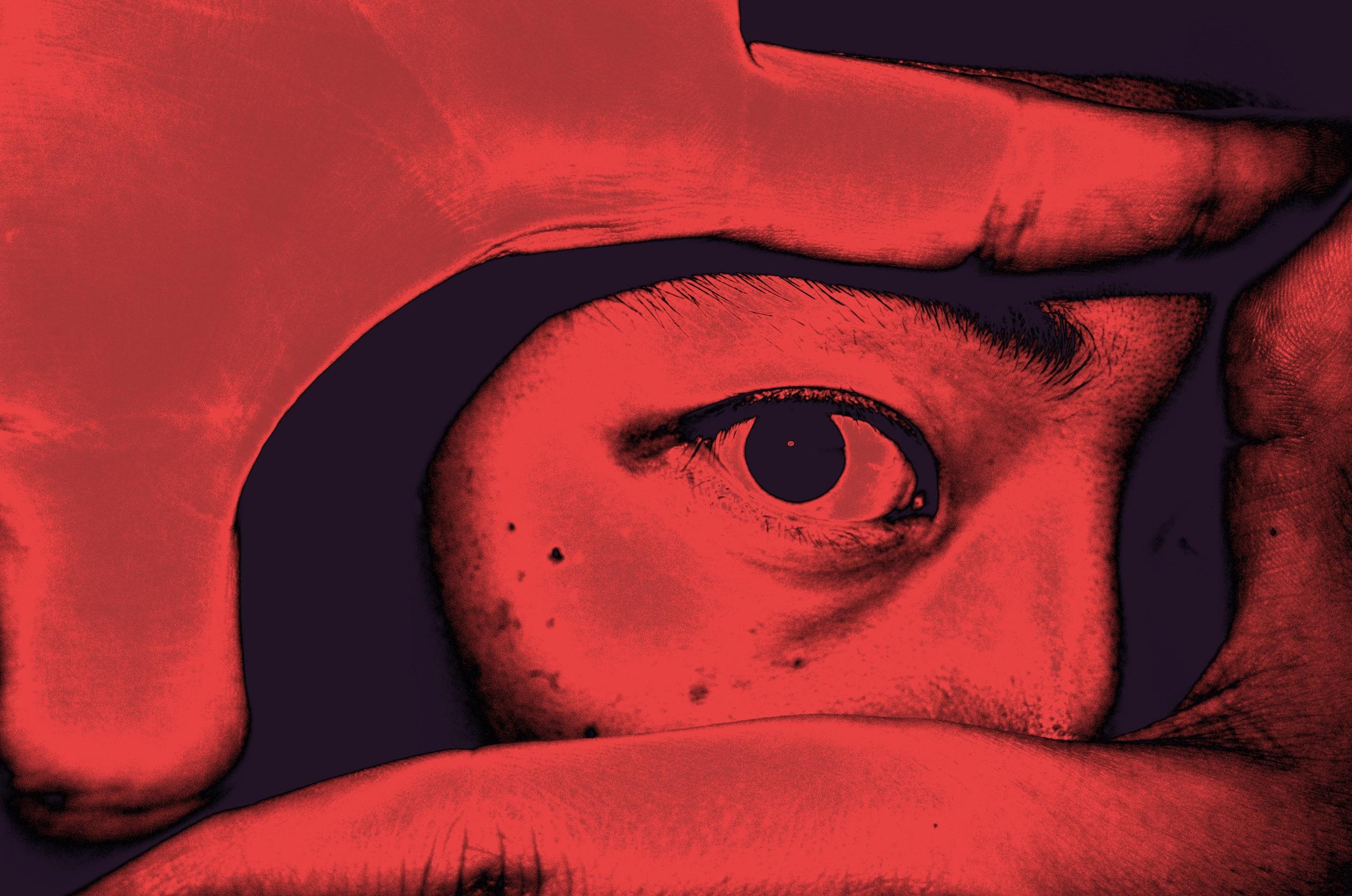 red selfie ERIC KIM eye