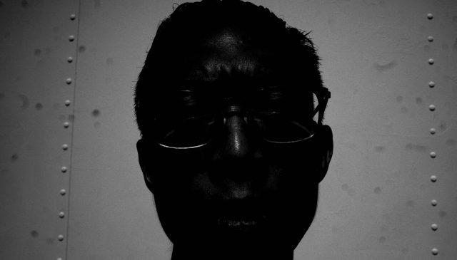 selfie black and white black