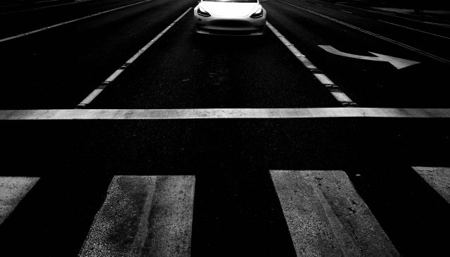 Tesla white car