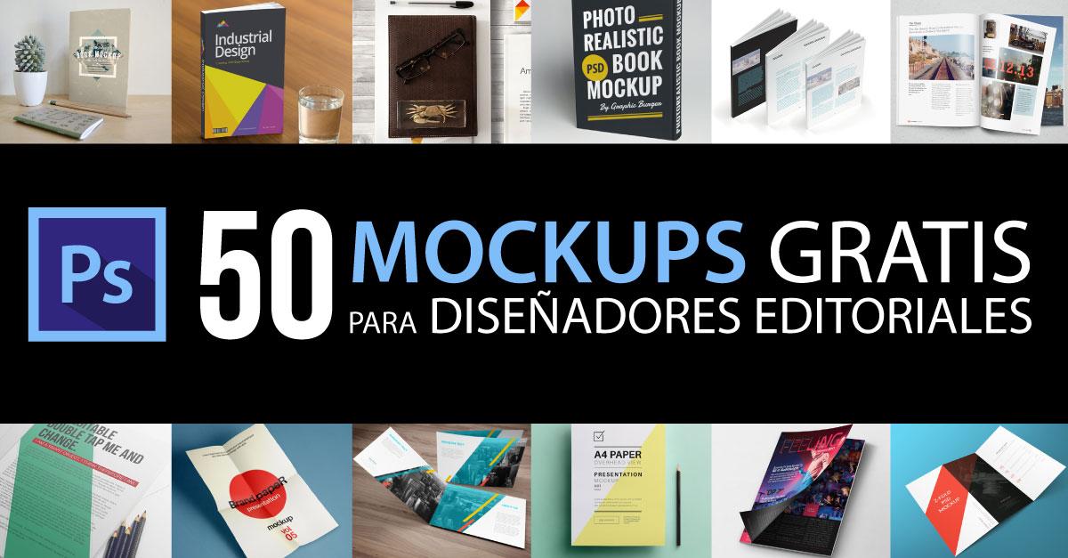 50 Mock Ups PSD Gratis Para Diseñadores Editoriales