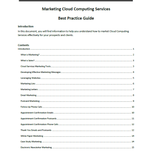 Erick Simpson's Marketing Cloud Computing Services White Paper