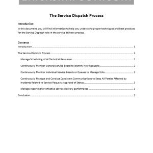 Erick Simpson's Service Dispatch Process White Paper