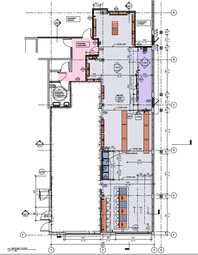 Floor plan cannabis store.