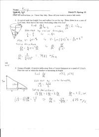 Free Download Ap Calculus Related Rates Worksheet Answers