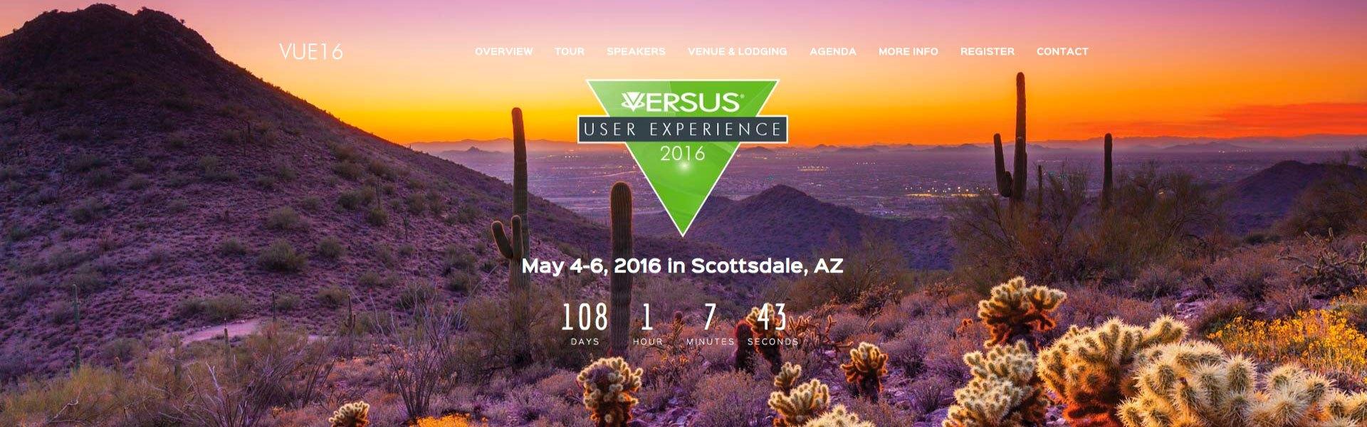 Website Design versustech.com VUE16 sensesonic.com