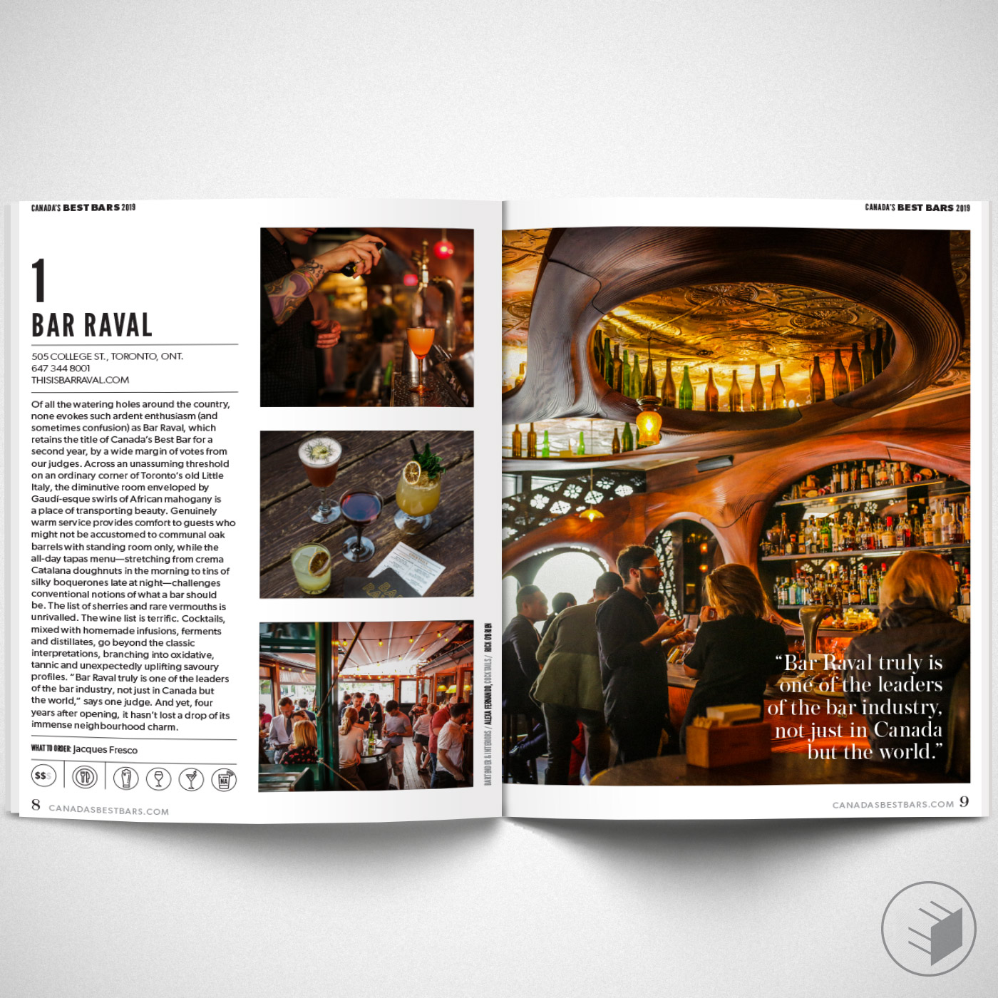 CANADA'S BEST BARS 2019 FEATURE