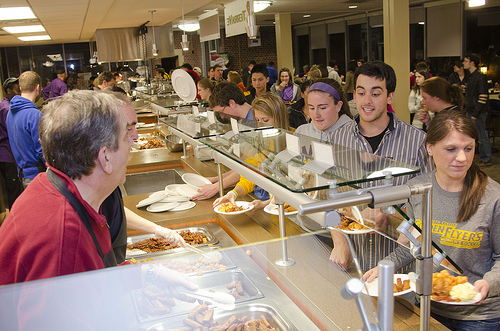 Dining Hall Line, Nazareth College