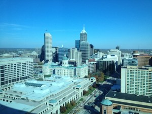 Picture of Indianapolic, IN from hotel at #NASPAtech 2012
