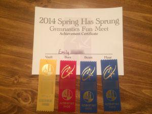 Gymnastics Certificate - Perseverance
