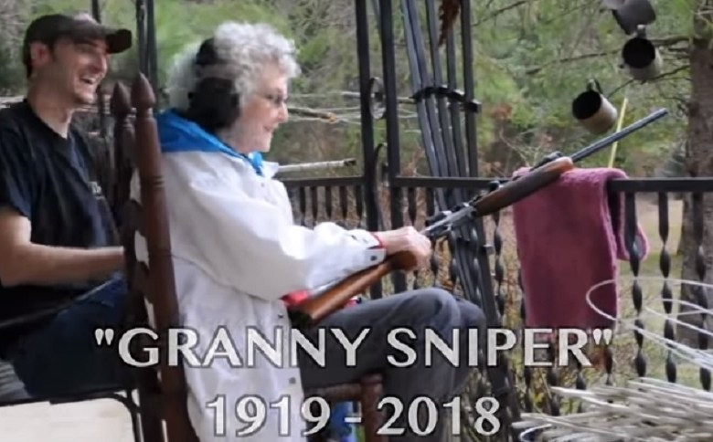 GRANNY AND HER RIFLE MADE 22PLINKSTER WHO HE IS TODAY