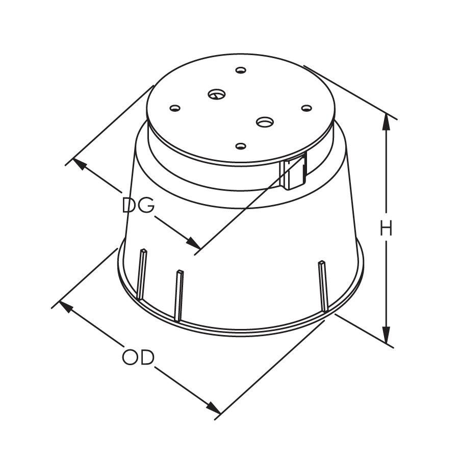Inspection Housing, High Density Polyethylene (HDPE