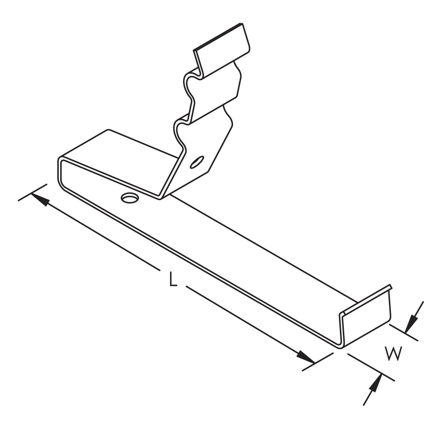 nVent ERICO Railclips, Snap-On, 2 Conductors Parallel