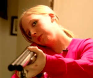 woman with gun picture