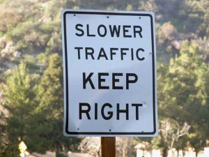 slower traffic pic