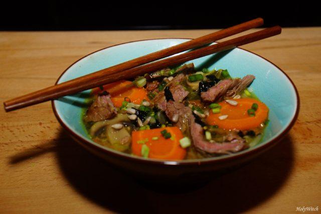 Bifteck: Comment faire une soupe façon asiatique