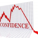 Graph of sudden decrease in confidence