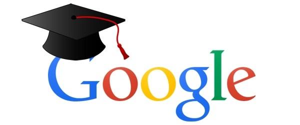 Google logo with Graduation cap over the G