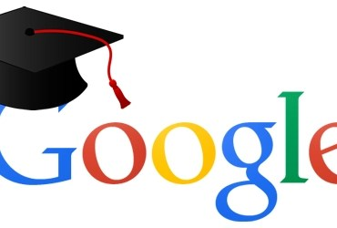 Google logo with Graduation cap over the G