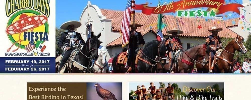 Screenshot of the Brownsville Convention & Visitors Bureau Website