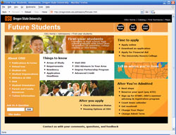Admissions site level 2 redesign screenshot