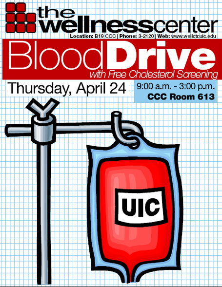 UIC Blood Drive poster