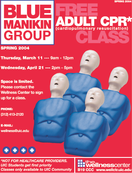 CPR classes poster