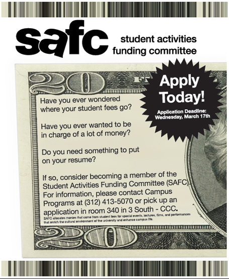 Student Activities Funding Committee Poster