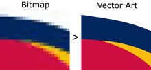 bitmap and vector image example