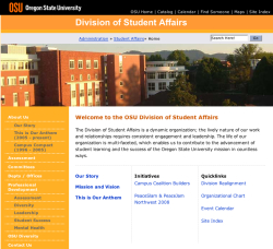 Oregon State University Student Affairs website