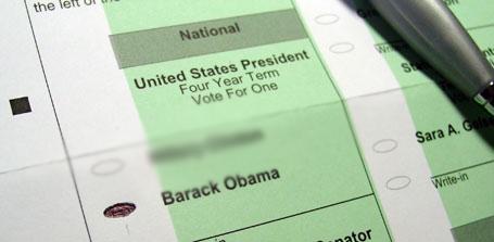 Vote for Barack Obama