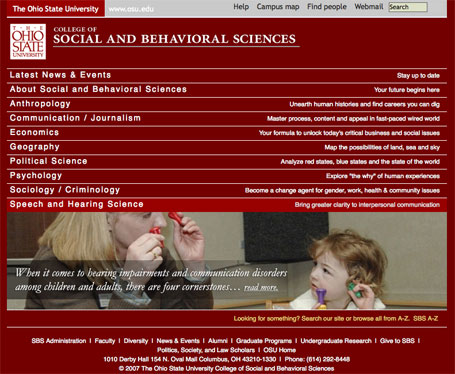 Ohio State University rips off Brown University homepage design and code