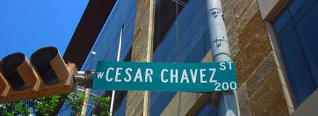 Cezar Chavez St. in Austin Texas