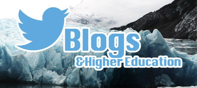 Use Twitter as the tip of the iceberg for linking communities with blog content in higher education