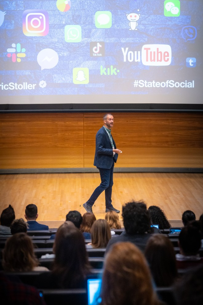 Eric Stoller - speaking at the State of Social at the University of Michigan