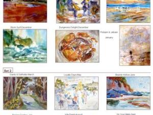 Notecard Variety 6-Pack, blank giclee watercolor prints by Eric Wiegardt, AWS-DF, NWS