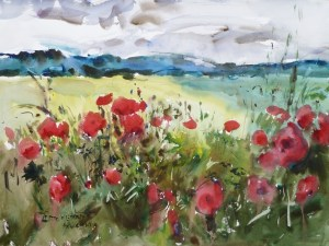 Poppies, Giclee print by Eric Wiegardt AWS-DF, NWS