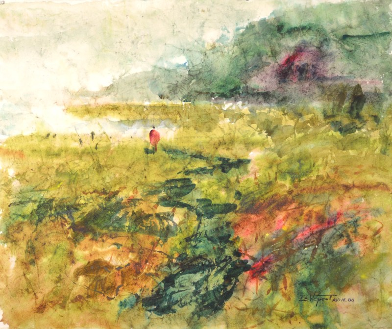 4252 Eelgrass, original watercolor painting by Eric Wiegardt AWS-DF, NWS