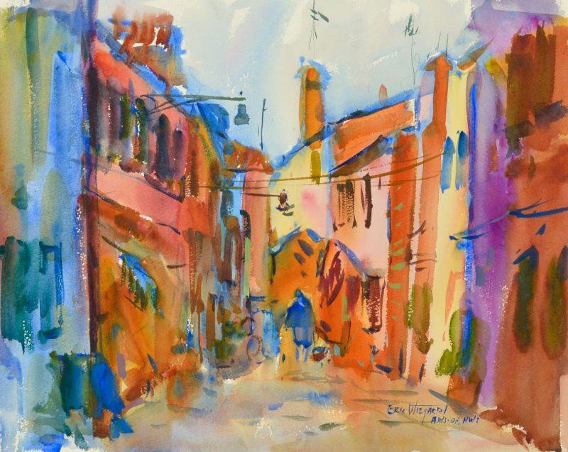3999 Venice in September, original watercolor painting by Eric Wiegardt AWS-DF, NWS