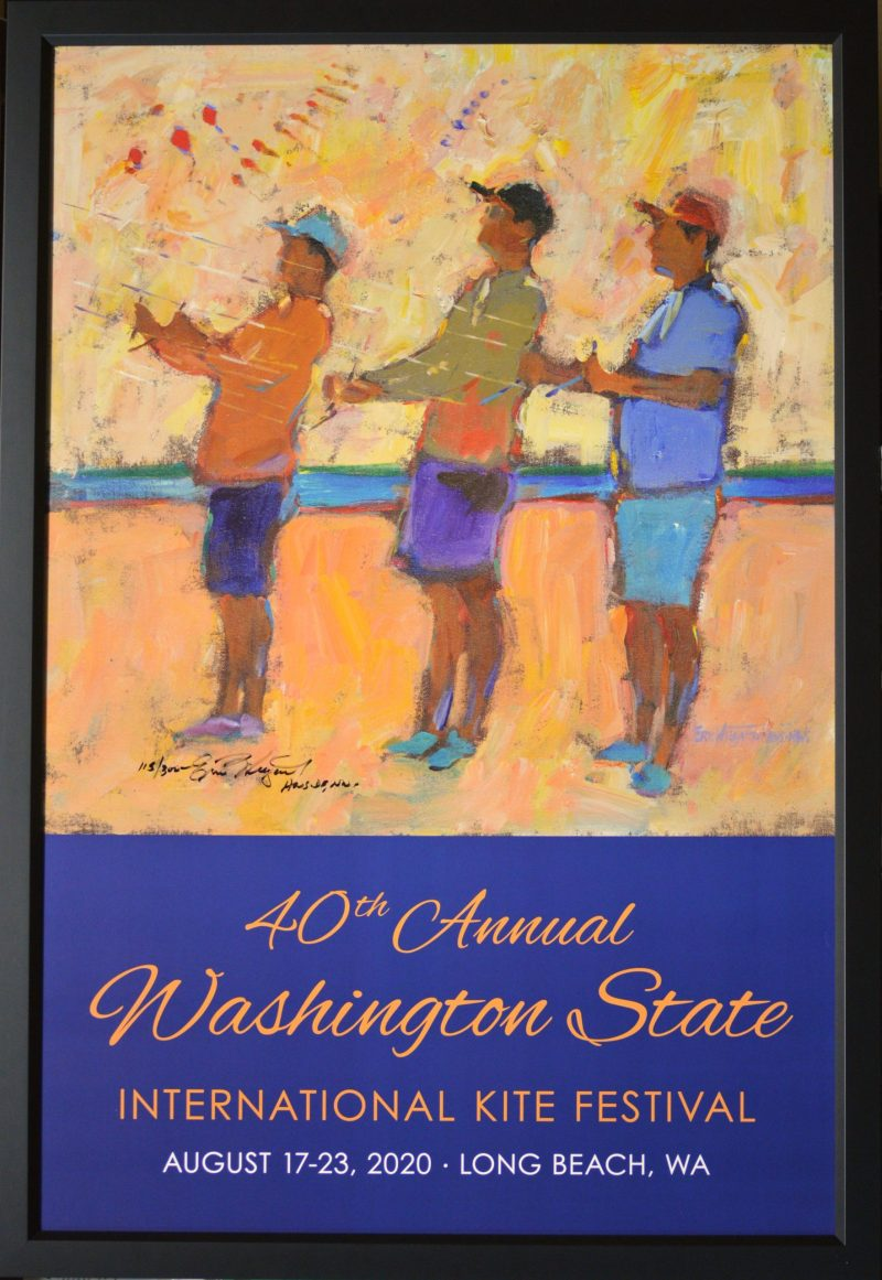 40th Annual Washington State Kite Festival Poster, print by Eric Wiegardt AWS-DF, NWS