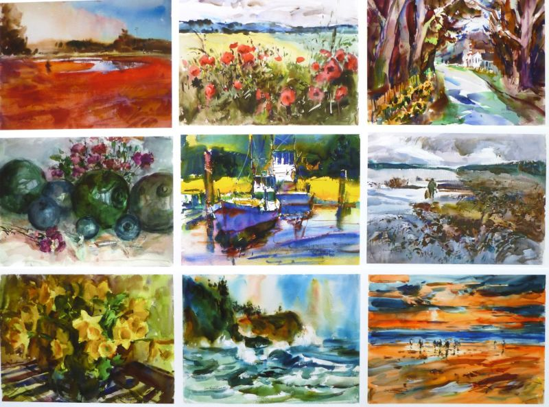 Notecard Variety Pack Visual, by Eric Wiegardt AWS-DF, NWS