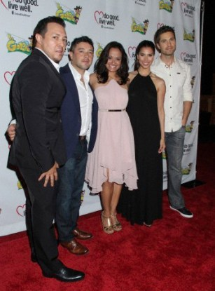 "'Devious Maids' stars Roselyn Sanchez, Edy Ganem, Ana Ortiz support co-star Judy Reyes at Premiere Of ""LA GOLDA"" - Arrivals"