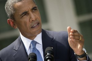 President Obama speaks Saturday about Syria from the Rose Garden at the White House ((AFP/File, Jim Watson)